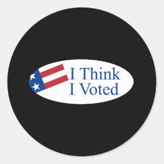 Je pense que j'ai voté sticker rond