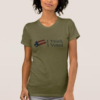 Je pense que j'ai voté tshirts