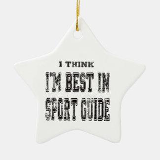 Je pense que je suis le meilleur du guide de sport ornements de noël