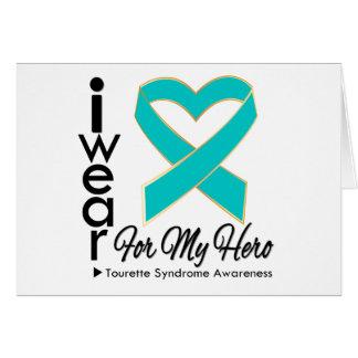 Je porte un ruban pour mon syndrome de Tourette de Carte De Vœux