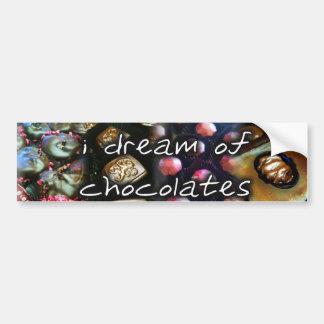 je rêve de l'adhésif pour pare-chocs de chocolats autocollant de voiture