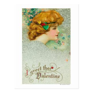 Je salue la femme de Thee Valentine Cartes Postales