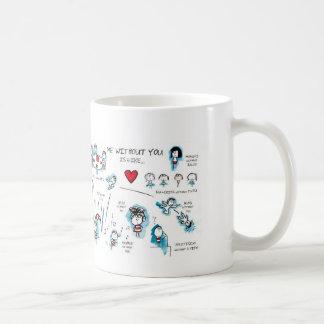 Je sans vous - Valentine - amour Mug Blanc
