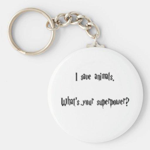 Je sauve des animaux porte-clés