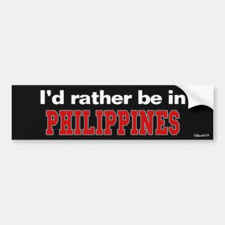 Je serais plutôt à Philippines Autocollant De Voiture