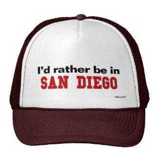 Je serais plutôt à San Diego Casquette De Camionneur