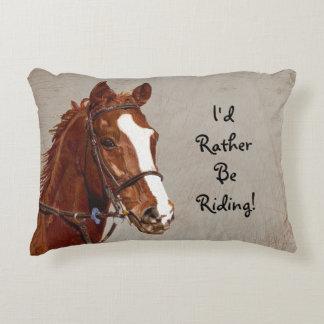 Je serais plutôt cheval d'équitation coussins décoratifs