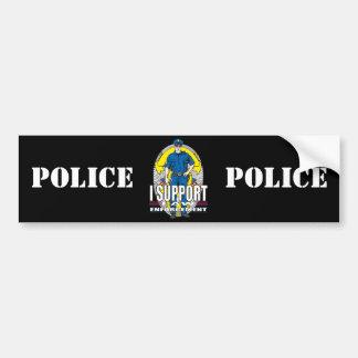 Je soutiens la police autocollant de voiture