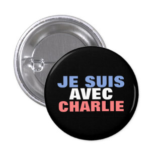 Je Suis Avec Charlie Macaron Rond 2,50 Cm