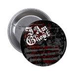"""Je suis bouton de """"jardin d'os"""" de fantôme pin's avec agrafe"""