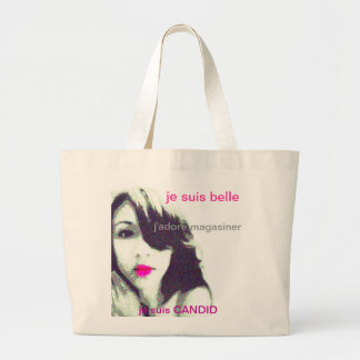 Je suis Candid Large Tote Bag