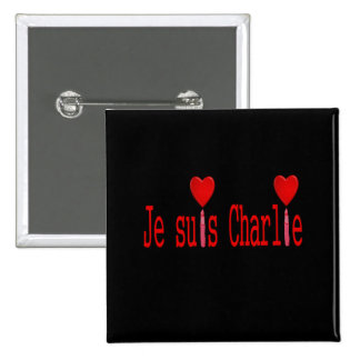 je suis charlie 2 inch square button