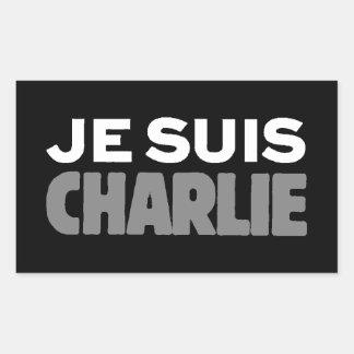 Je Suis Charlie - I am Charlie Black Sticker