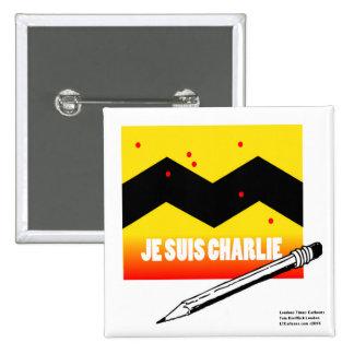 Je Suis Charlie (I Am Charlie) To Benefit Paris 2 Inch Square Button
