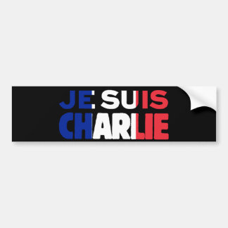 Je Suis Charlie -I am Charlie Tri-Color of France Bumper Sticker
