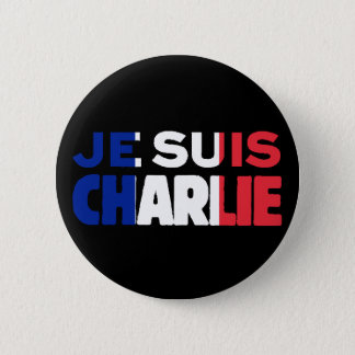 Je Suis Charlie -I am Charlie- Tri-Colour of 2 Inch Round Button