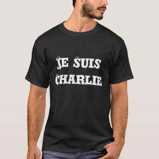 Je Suis Charlie Men's T Shirt Whit on Black
