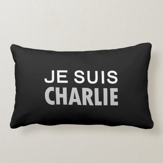 JE SUIS  CHARLIE - national unity people Lumbar Pillow
