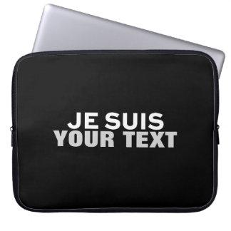"""Je suis Charlie"" PRINT CUSTOM FUN COMPUTER SLEEVE"