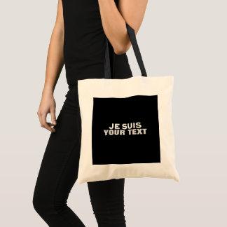"""Je suis Charlie"" PRINT CUSTOM FUN ECO FRIENDLY Tote Bag"