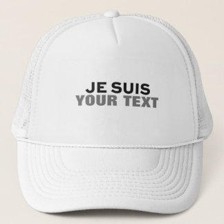 """Je suis Charlie"" PRINT CUSTOM FUN GOLF GIFT Trucker Hat"