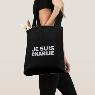 """Je suis Charlie"" PRINT YOUR OWN CUSTOM BAG"