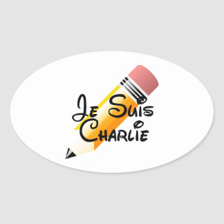 Je Suis Charlie Support Oval Stickers