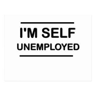 Je suis des chômeurs d'individu drôles carte postale
