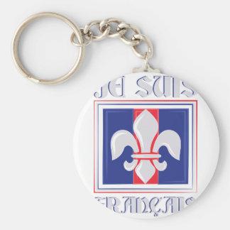 Je Suis Francais Basic Round Button Keychain