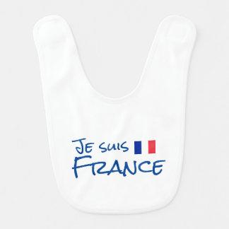 Je suis France Baby Bib