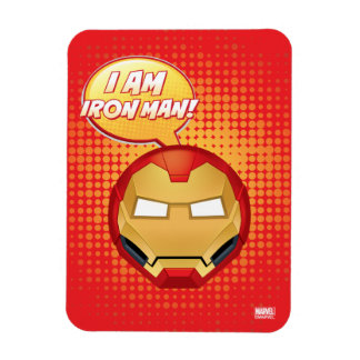 """Je suis homme"" Emoji de fer Magnet Souple"
