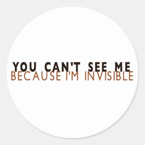 Je suis invisible adhésifs ronds