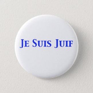 Je Suis Juif Jewish Solidarity Shirts and Gifts 2 Inch Round Button
