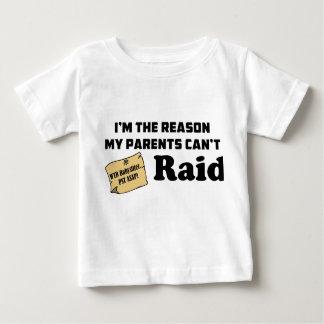 Je suis la raison que mes parents ne peuvent pas t-shirt pour bébé