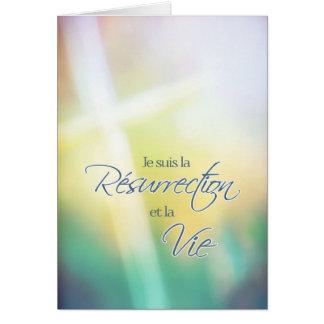 Je suis la résurrection, French religious Easter Card