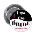 Je suis le bouton de partie de jeune mariée badge