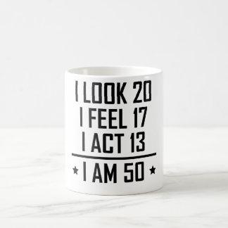 Je suis le cinquantième anniversaire 50 drôle mug blanc
