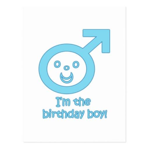 Je suis le garçon d'anniversaire ! carte postale