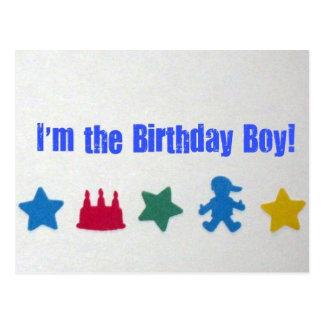 Je suis le garçon d'anniversaire ! cartes postales
