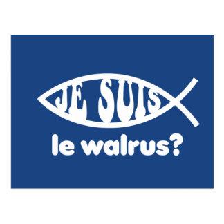 Je Suis Le Walrus Postcard