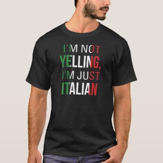 Je suis ne hurlant pas moi suis simplement italien t-shirt
