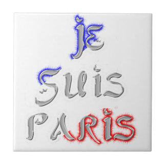 Je Suis Paris I love Paris Tile