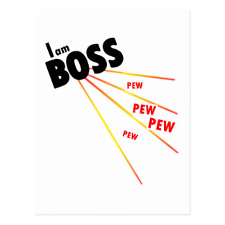 Je suis patron carte postale