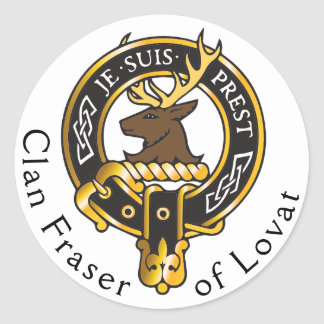 Je Suis Prest - Clan Fraser Crest Classic Round Sticker