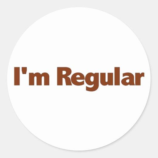 Je suis régulier adhésifs ronds