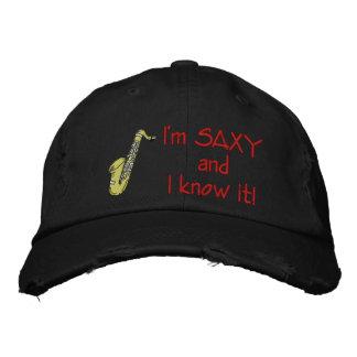 Je suis Saxy et je le sais ! -- CHAPEAU Casquettes De Baseball Brodées