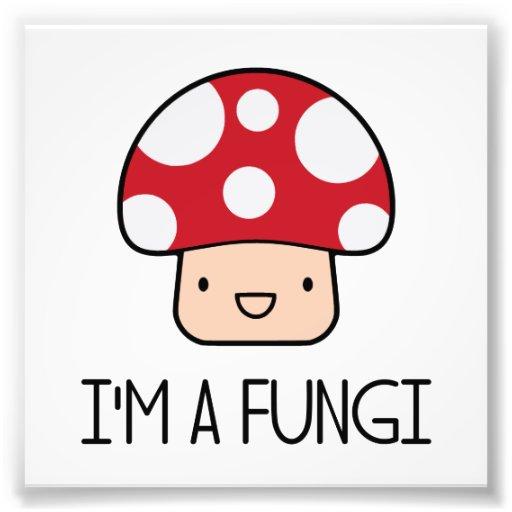 Je suis un champignon de type d'amusement de champ impressions photo