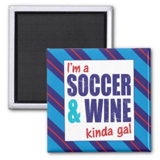 Je suis un football et un vin plutôt gallon magnet carré