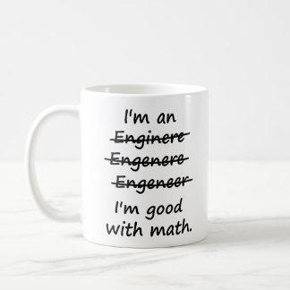 Je suis un ingénieur que je suis bon aux maths tasse à café