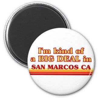 Je suis un peu une AFFAIRE dans San Marcos Magnet Rond 8 Cm